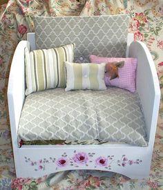 Dog BedCat BedDesignerToy box IncludedShabby Chic by Bornanoldsoul