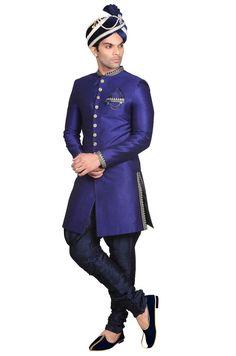 Magnificent Royal Blue Sherwani