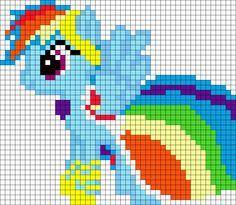 Gala Rainbow Dash My Little Pony perler bead pattern