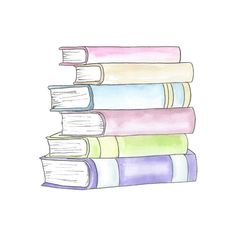 Watercolor Stack of Books Clipart // Planner Clipart // School Clip Art Pile Of Books, Stack Of Books, Book Clip Art, Book Art, Watercolor Books, School Clipart, Drawing Clipart, Book Drawing, Book Tattoo