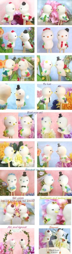 Cute Love birds wedding cake toppers  Custom by PassionArte, $62.00