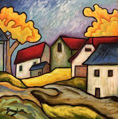 Saatchi Art Artist Elisa R Boughner; Watercolor Trees, Watercolor Paintings, Landscape Art, Landscape Paintings, Landscapes, Mini Paintings, Original Paintings, Fashion Painting, Happy Art