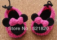 free minnie mouse hat pattern | 15% off ! Minnie Mouse Inspired Crochet Shoes Pattern. crochet booties ...