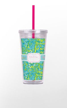 Now you Tri Delta gals can keep cool in summer with your iced coffee to go, or tote your iced tea to the pool in these decorative acrylic tumblers with straw. Then keep yourself hydrated at work, in class, or just hanging out with your sisters with these designer tumblers. Buy 2 or 4 or more and make a set that can be used again and again at all your sorority gatherings!