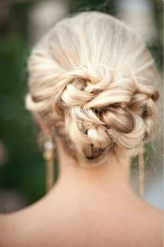 Prom hairstyle.
