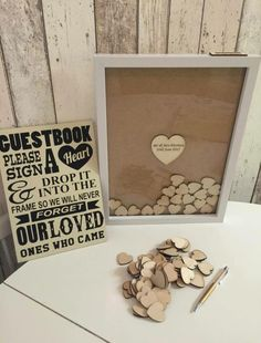 Wedding guest book idea