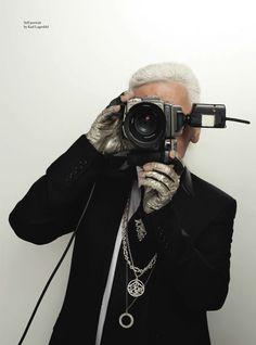 fashionandbones: Self-portrait by Karl Lagerfeld