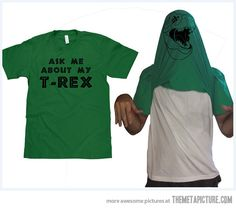 I would buy this just for the excuse to show off my T-REX. T-Rex Face Flipover Tee now featured on Fab. Doug Funnie, T Rex Shirt, Just In Case, Just For You, Haha Funny, Funny Stuff, Funny Things, Stupid Funny, Random Things