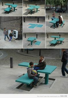 Pop-up Street Furniture