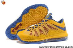 Star's favorite Nike Air Max Lebron 10 Low Yellow Blue Latest Now
