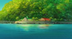 Nature Anime Scenery Background Wallpaper