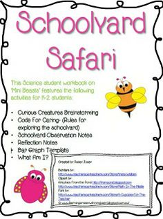 Excellent resources to support the Primary Connections unit, Schoolyard Safari, created by Learning Is Rosey With Mrs Josey Science Student, Science Biology, Life Science, Food Science, Bar Graph Template, Learn Cantonese, Science Resources, Science Ideas, Activities