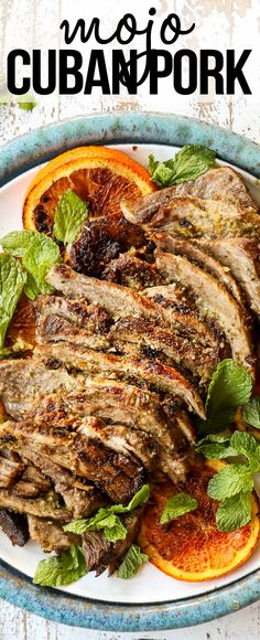 This juicy, succulent Mojo Cuban Roast Pork is big on flavor and low on effort – just sit back while the marinade and the oven do all the work! It also makes the BEST Cubano Sandwiches and freezes great! #recipe #recipes #recipeoftheday #recipeideas #recipeseasy #asianrecipes #pork #roastpork #porkrecipes #dinner #dinnerrecipes #dinnerideas #dinnerideas #recipesfordinner #Cubanpork via @carlsbadcraving Recipes Using Pork, Pork Roast Recipes, Pork Tenderloin Recipes, Cooking Recipes, Cuban Pork Roast, Fun Easy Recipes, Easy Meals, Pork Marinade, Carlsbad Cravings
