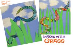 Snake in the Grass: art lesson