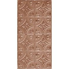 Armstrong 24-in x 48-in Metallaire Large Floral Circle Nail-Up Ceiling Tile