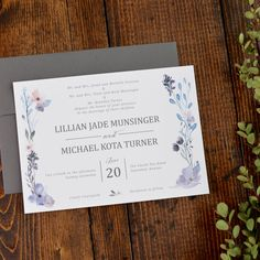 225c7846edd09685b389bea83117f93f response cards floral wedding invitations snowy pine trees wedding invitation set invite and response card,Invitation And Response Card Set