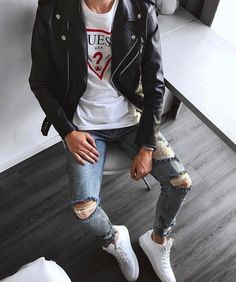 Style by Fashion Fashionist Design Fashions Statement Ideas Gifts Dress Clothes Hats Comfort Men Women Girls Boys Shirts Pants Slacks Prom Pictures Photos Boys Fashion Wear, Trendy Mens Fashion, Stylish Men, Men Casual, Fashion Outfits, Boy Outfits, Casual Outfits, Leather Jacket Outfits, Men With Street Style