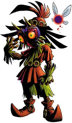 Skull kid and Tael the fairy - The Legend of Zelda: Majora's Mask; Official artwork for the game