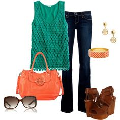 """""""J Crew Top"""" by lhuebscher on Polyvore"""