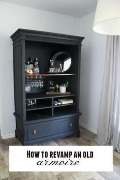 DIY furniture update {How to revamp an old armoire}