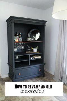 Revamp an old furniture using black chalk paint! Super easy DIY