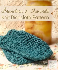 Today's dishcloth pattern is a family favorite. I'm sure you've seen it before. A simple, classic knit dishcloth that is worked from corner to corner. This is the dishcloth I remember my grandmothers and mother using. It's been passed down to me and now I'm passing it along to you! I used t