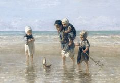 Childeren at the sea by Jozef Israëls