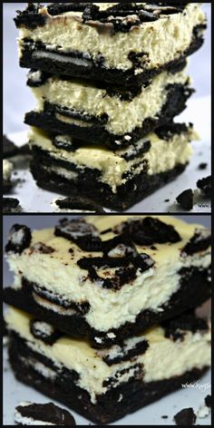 Oreo Cheesecake Brownies - Hugs and Cookies XOXO