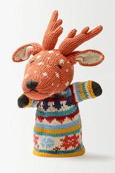 Reindeer Hand Puppet #anthropologie