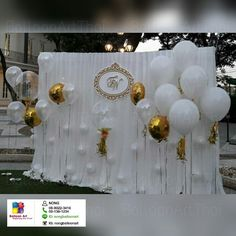 Balloon decorate wedding