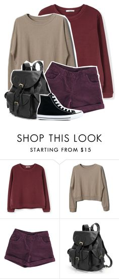 """""""🕸 rotten 🕸"""" by clea69 ❤ liked on Polyvore featuring MANGO, AmeriLeather and Converse"""