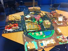 I want to make Soil City like this but to show underground Gingerbread City! STEM Civil Engineering Project for middle school Middle School Reading, Middle School Science, Elementary Science, School Fun, Steam Education, Science Education, Stem Activities, Kindergarten Activities, Civil Engineering Projects