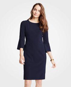 ab06097c6208 Seasonless Stretch Fluted Sleeve Sheath Dress