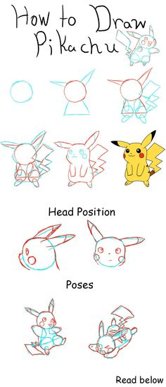 Manga Drawing Techniques How to Draw Pikachu by PikaAly on DeviantArt - Drawing Lessons, Drawing Techniques, Drawing Tips, Drawing Ideas, Pikachu Drawing Easy, How To Draw Pokemon, Colorful Drawings, Easy Drawings, Cute Drawlings