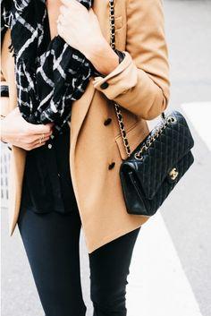 #fall #fashion / camel coat