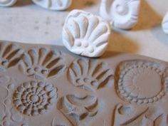 Stamps for clay/ pottery polymer PMC play doh par chARiTyelise