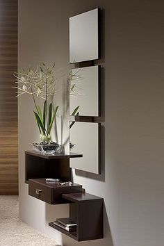 5 Young Cool Ideas: Long Floating Shelves Frames floating shelves next to tv fire places.Floating Shelves Decoration Home Office floating shelves fireplace bookcases. Home Interior Design, Interior Decorating, Interior Office, Hallway Decorating, Entryway Decor, Entryway Console, Floating Shelves, Glass Shelves, Living Room Decor