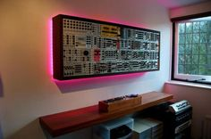 Wall-mount modular synth