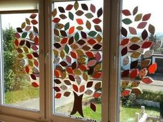 Ventanas otoño – # Otoño – for teens – herbst Diy For Kids, Crafts For Kids, Autumn Crafts, Window Art, Decoration Table, Classroom Decor, Fall Decor, Diy And Crafts, Windows