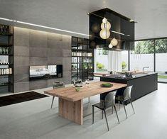 Contemporary Kitchen Design view in gallery exquisite modern kitchen design from arrital VNTPPXO - Kitchen Ideas Home Decor Kitchen, Interior Design Kitchen, New Kitchen, Kitchen Designs, Kitchen Wood, Kitchen Ideas, Kitchen Modern, Kitchen Small, Kitchen Cabinets