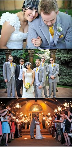 Beautiful gray and yellow wedding