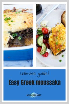 If you've never tried making moussaka, don't wait another day to make this easy version. With its delicious layers of roasted eggplant, Greek bolognese sauce and souffle-like cheesy bechamel sauce, it's a bit like lasagna… but even more delicious! Stove Top Recipes, Easy Meat Recipes, Greek Recipes, Potted Meat Recipe, Easy Mediterranean Recipes, Moussaka Recipe, Bechamel Sauce, Bolognese Sauce, Greek Dishes