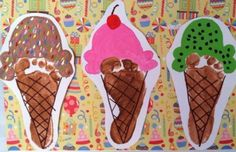 Ice cream footprints