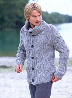 MADE TO ORDER Sweater men hand knitted by LuxuryKNITTING2013