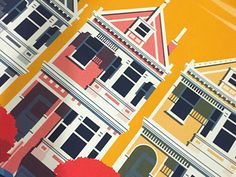 San Francisco Houses by Aaron Eiland