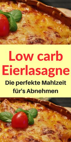 Low carb egg lasagna - simple and super fast - life hel .-Low carb Eierlasagne – Einfach und super schnell – Lebensheld Recipe for a delicious low carb egg lasagna. Quick and easy preparation in combination with a great taste experience. Lunch Recipes, Low Carb Recipes, Diet Recipes, Vegetarian Recipes, Healthy Recipes, Vegetarian Dinners, Smoothie Recipes, Salad Recipes, Low Fat Diets