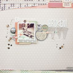 #papercraft #scrapbook #layout.  ILS - scrapbooking: Broken - video tutorial by Janna Werner