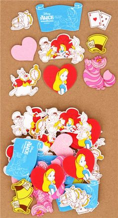 Disney Alice in Wonderland heart sponge sticker sack