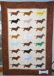 Doxie quilt by Doodlebug Quilts - beautiful!