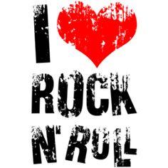 Estampa para camiseta I Love Rock 'n' Roll 000219